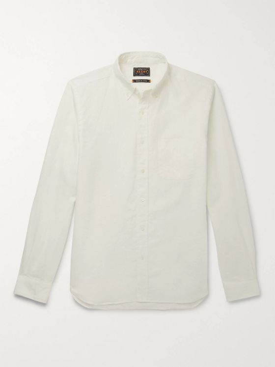 Beams Plus Button-Down Collar Linen Oxford Shirt