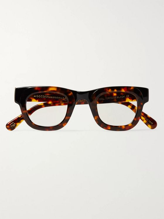 Moscot Fritz Round-Frame Tortoiseshell Acetate Optical Glasses