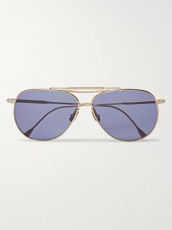 Native Sons Thomson S Aviator-Style Gold-Tone Sunglasses