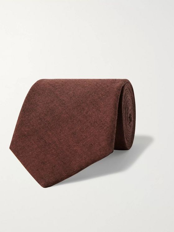Oliver Spencer 7cm Mélange Cotton Tie