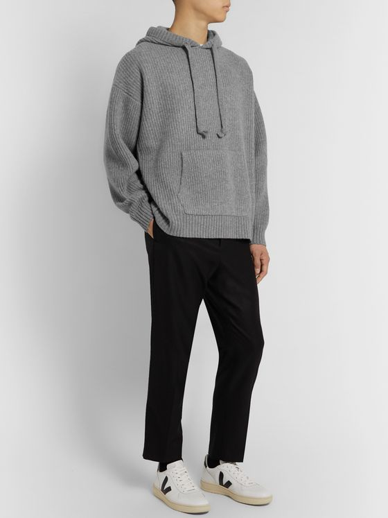 Entireworld Ribbed Mélange Wool Hoodie