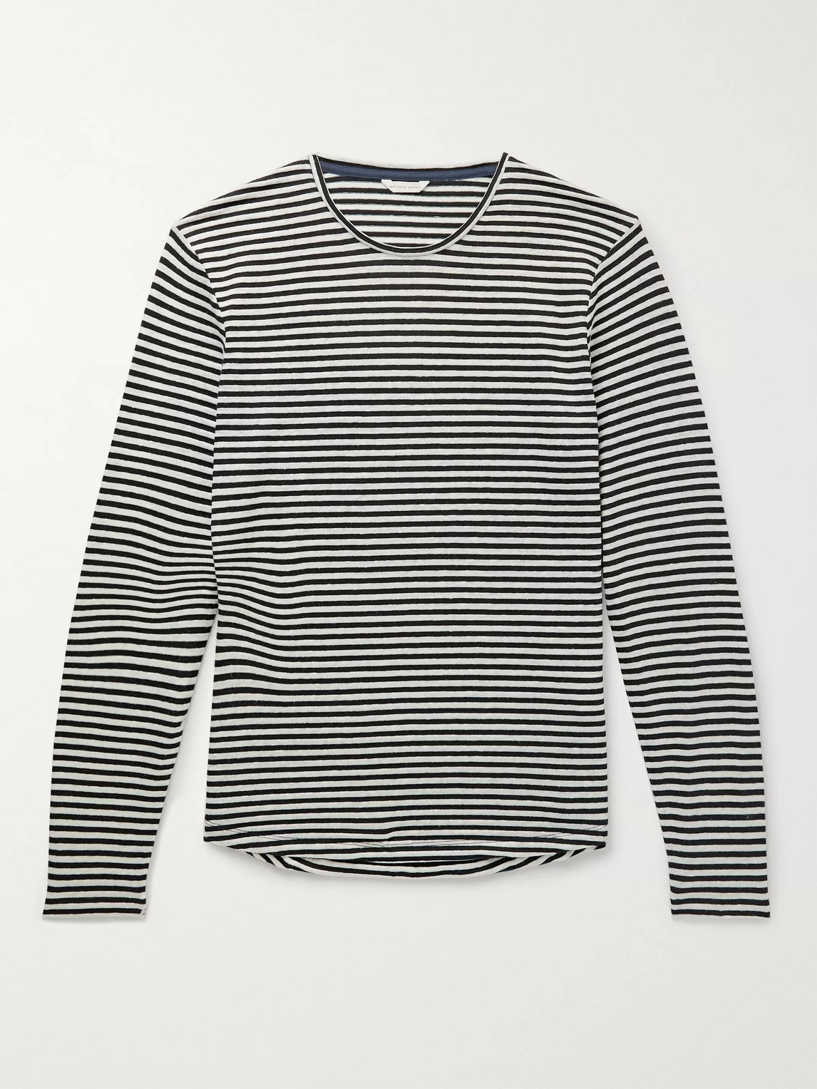 Orlebar Brown – Ob-t Striped Cotton And Linen-blend T-shirt – Blue