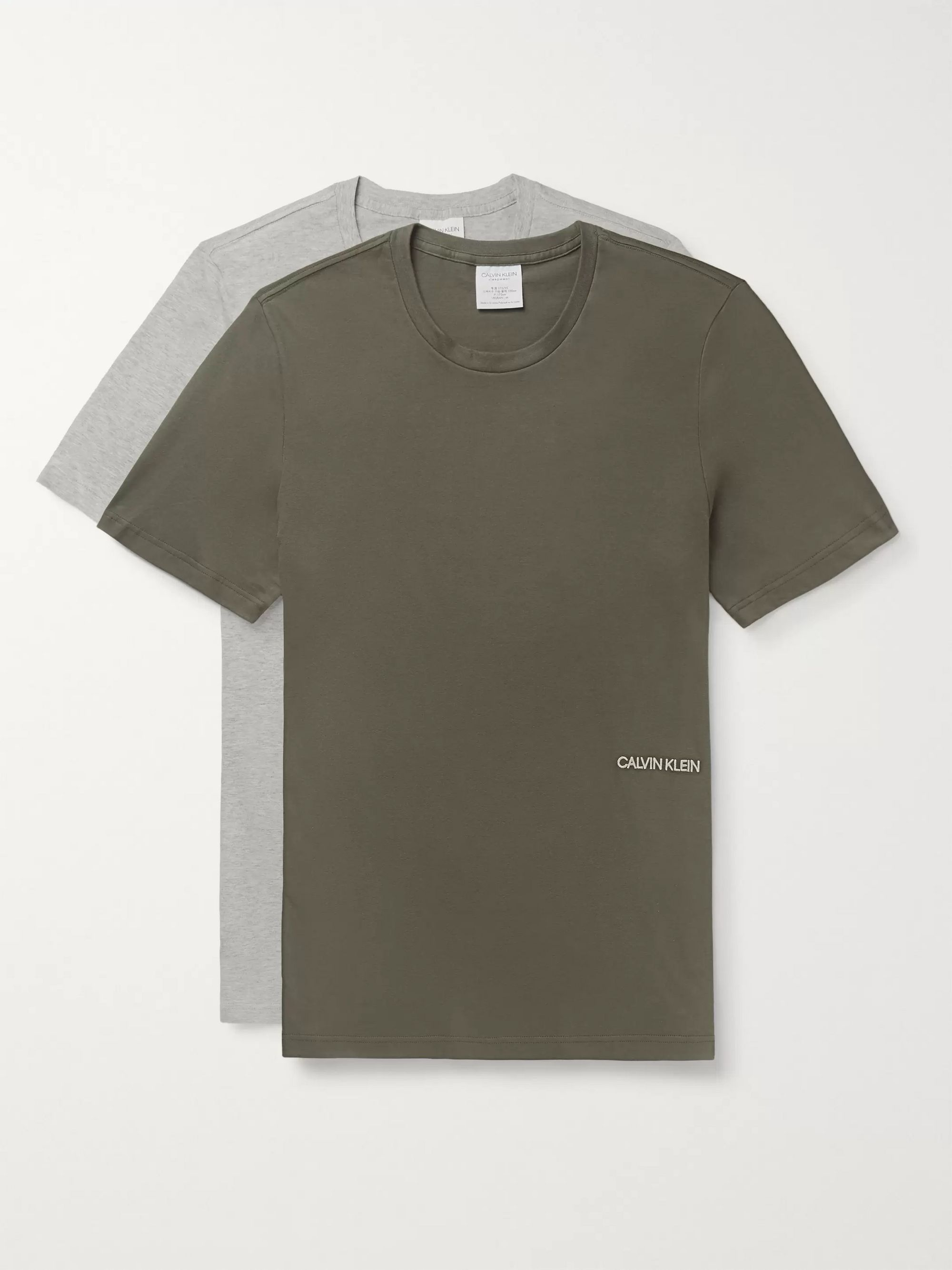 Calvin Klein Underwear Two-Pack Logo-Embroidered Cotton-Jersey T-Shirts