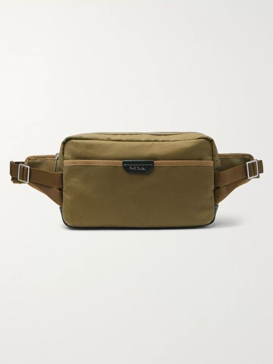 Paul Smith Leather-Trimmed Drill Belt Bag