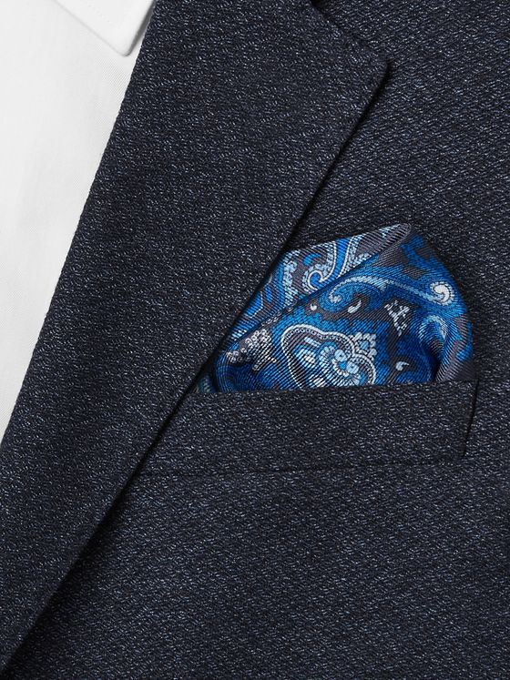 Paul Smith Paisley-Print Silk-Twill Pocket Square