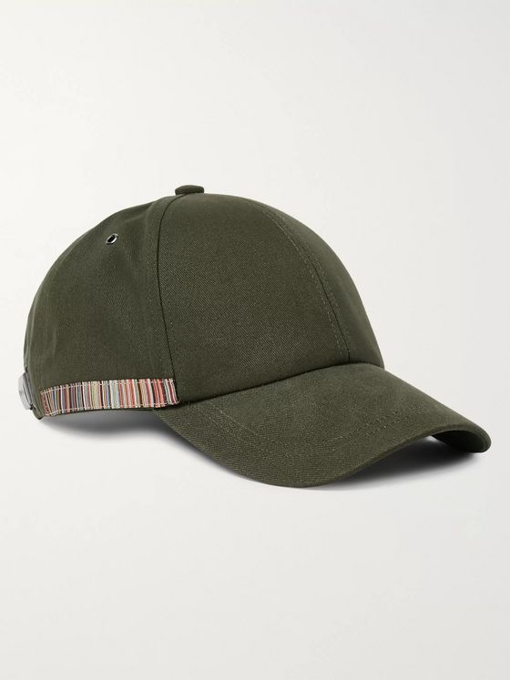 Paul Smith Stripe-Trimmed Organic Cotton-Twill Baseball Cap
