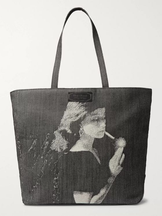 Undercover Printed Denim Tote Bag