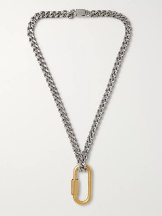 Maison Margiela Brushed Silver-Tone and Gold-Tone Necklace