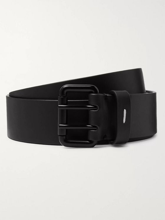 Maison Margiela 3.5cm Black Leather Belt