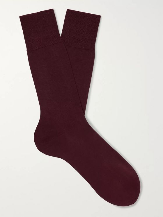 FALKE No 4 Silk-Blend Socks
