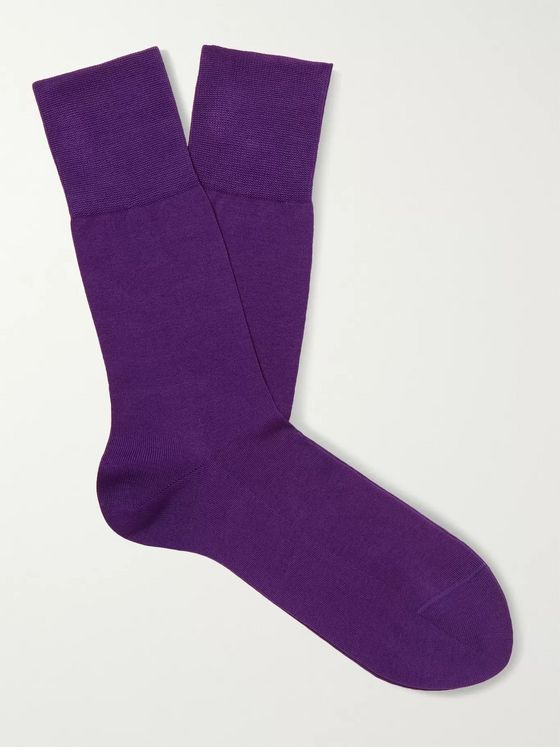 FALKE Tiago Stretch Fil d'Ecosse Cotton-Blend Socks