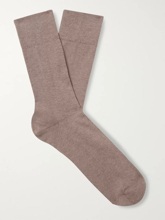 FALKE Sensitive London Combed Stretch Cotton-Blend Socks