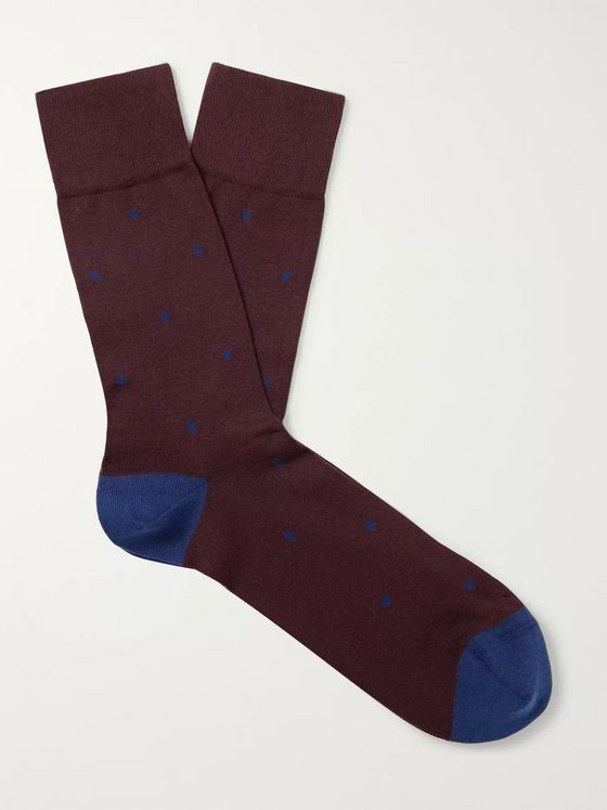 FALKE Polka-Dot Cotton-Blend Socks