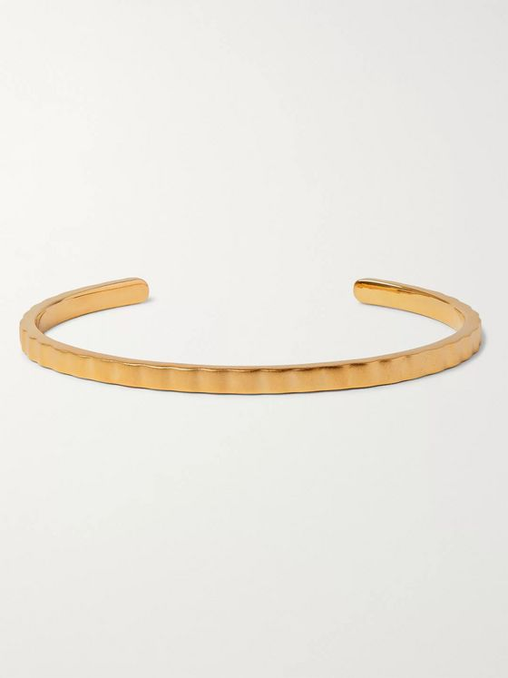Miansai Etch Gold-Plated Cuff