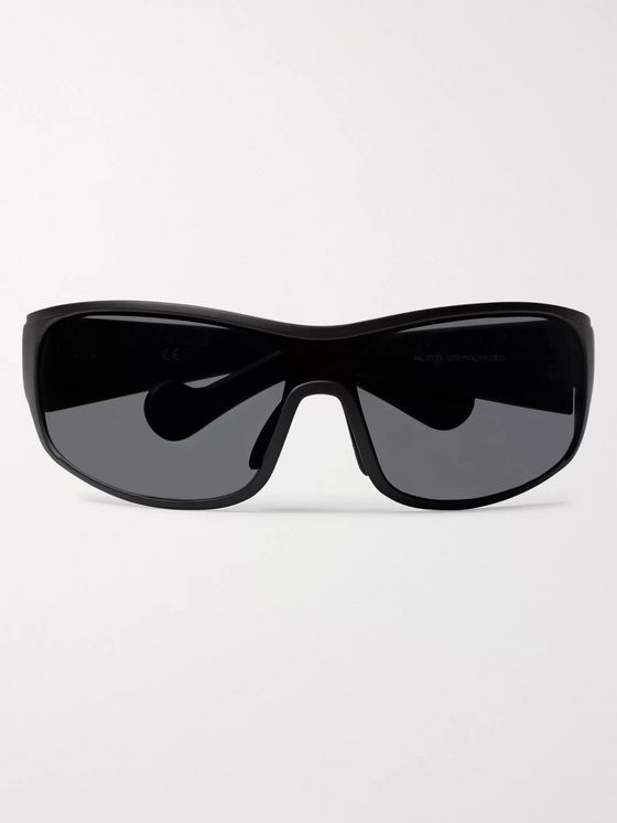 Moncler Wrap-Frame Polarised Acetate Sunglasses