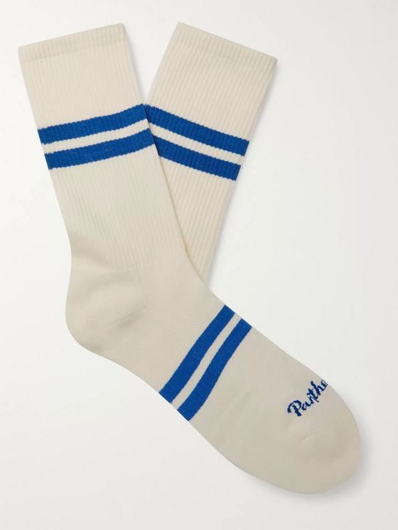 Pantherella Spirit Striped Stretch Cotton-Blend Socks
