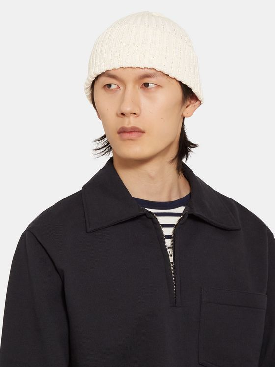 Beams Plus Ribbed Linen and Cotton-Blend Beanie