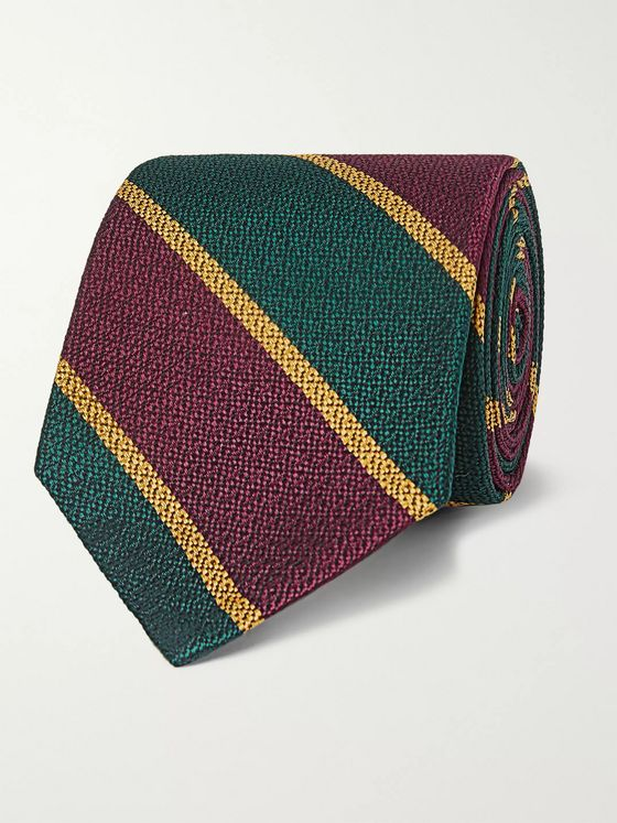 Beams Plus 8cm Striped Silk Tie
