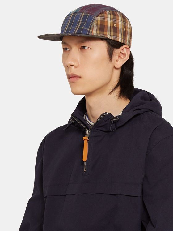 Beams Plus Patchwork Checked Cotton Cap