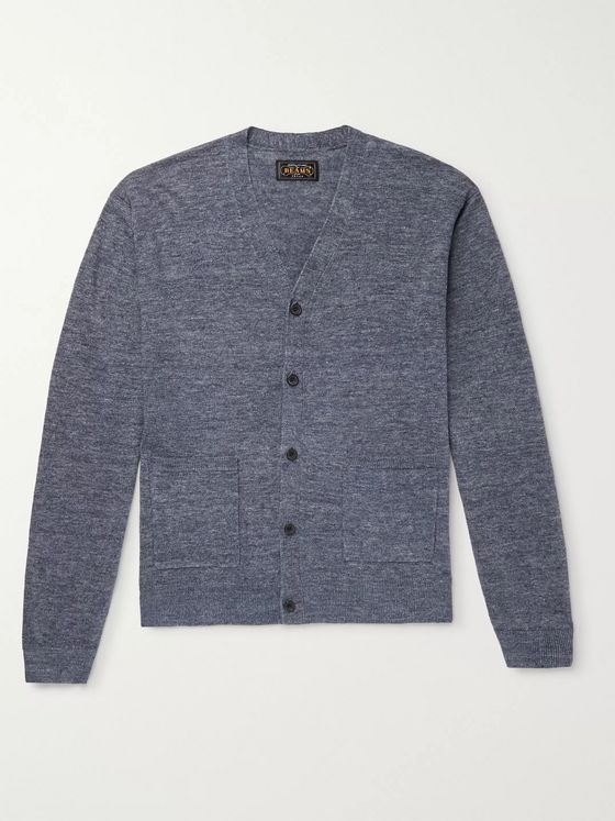 Beams Plus Mélange Linen Cardigan