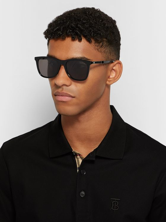 Montblanc Square-Frame Acetate and Silver-Tone Sunglasses