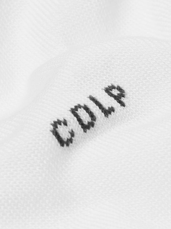 CDLP Three-Pack Logo-Intarsia Stretch-Jersey No-Show Socks