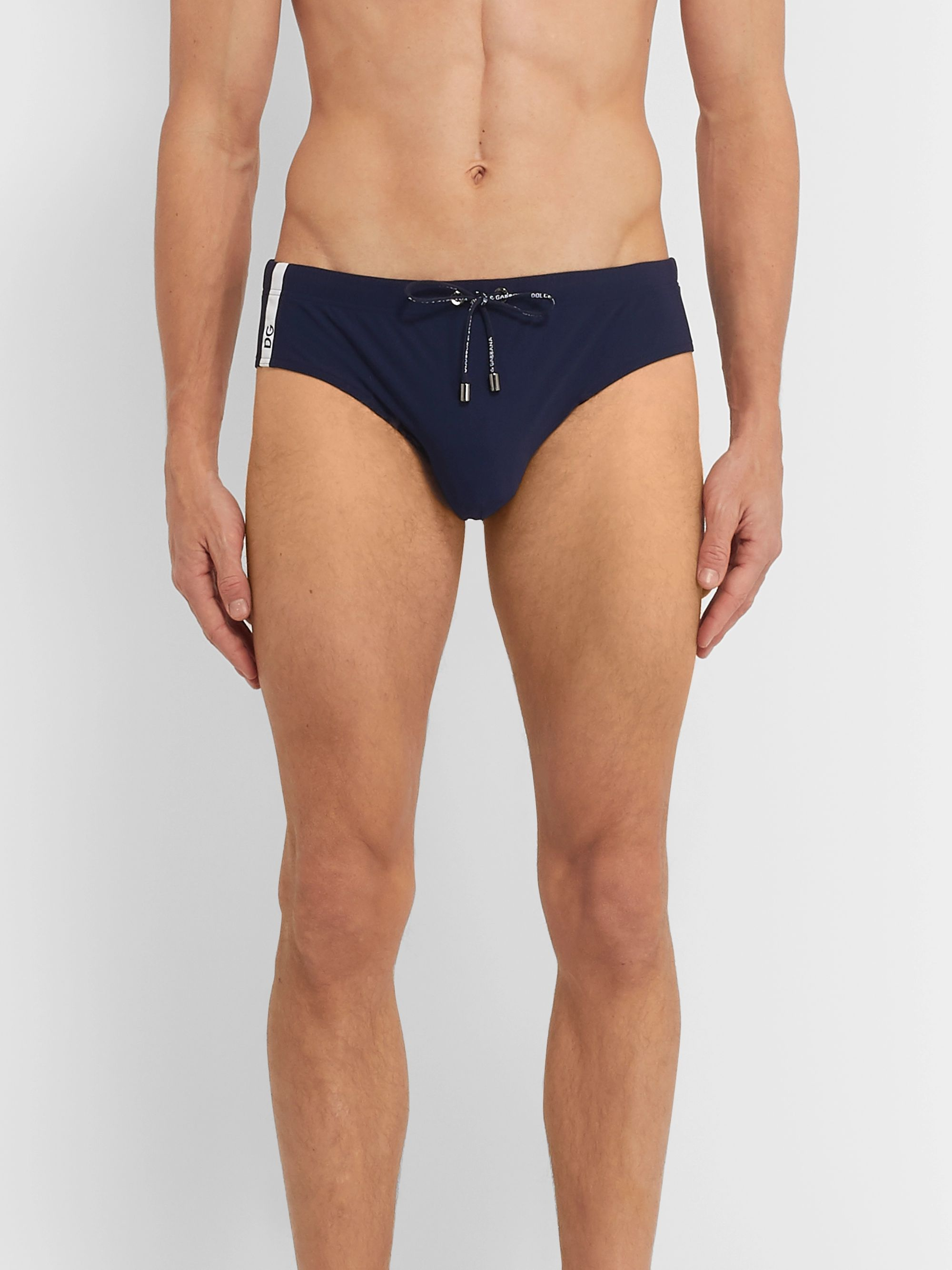 Dolce & Gabbana Stretch-Shell Swim Briefs
