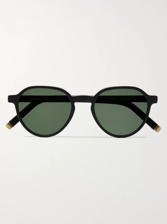 Moscot Les Sun Round-Frame Acetate and Gold-Tone Sunglasses