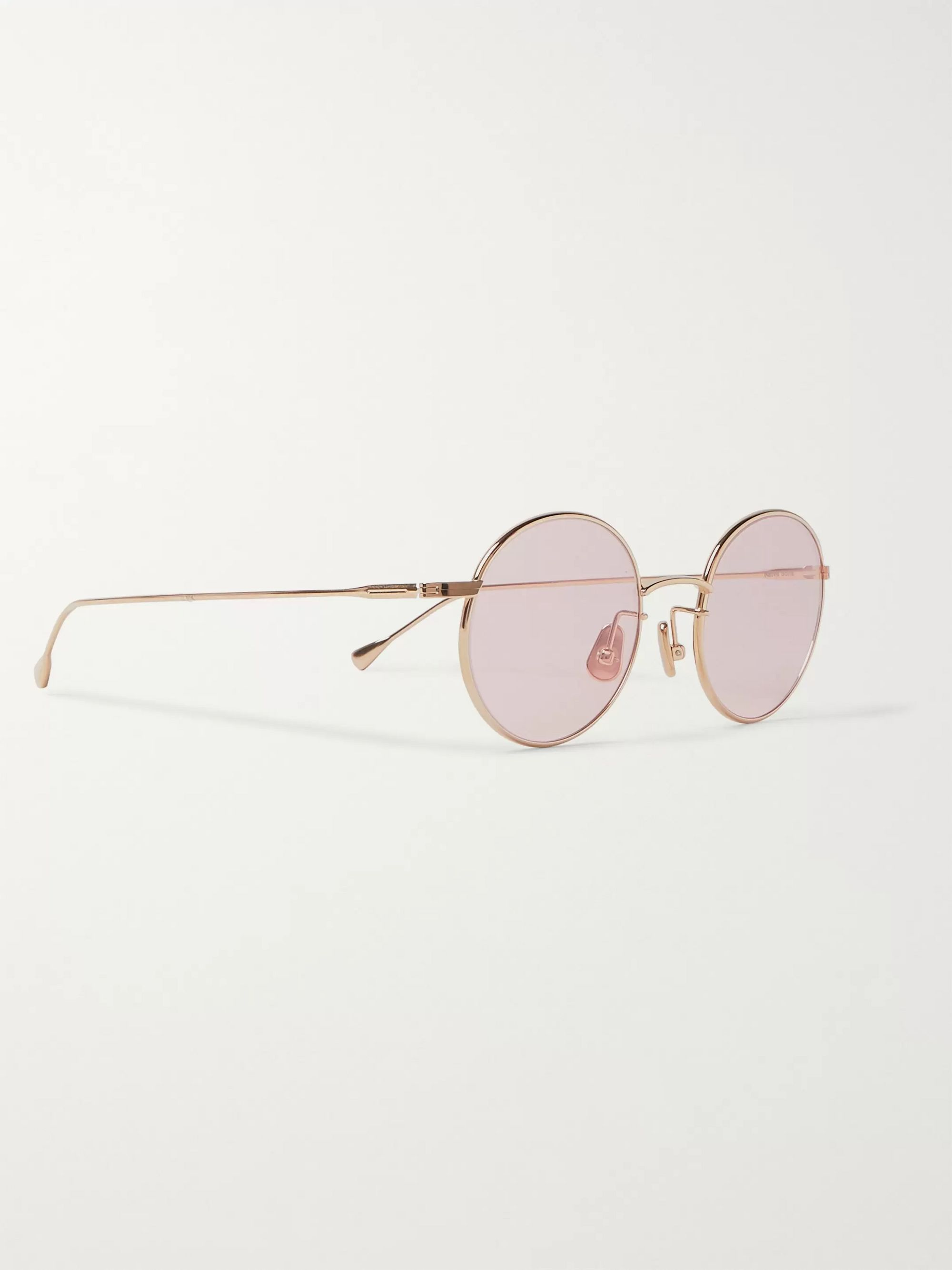Native Sons Seeger 47 Round-Frame Gold-Tone Sunglasses