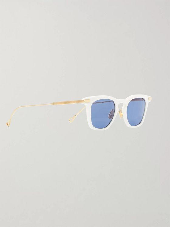 Native Sons Verne D-Frame Acetate and Gold-Tone Sunglasses