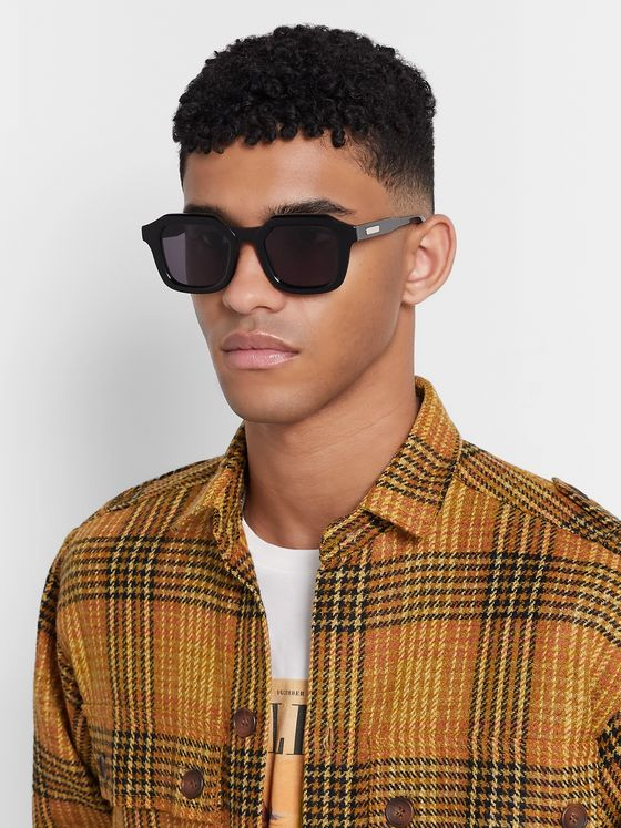 Native Sons Matheson Square-Frame Acetate Sunglasses