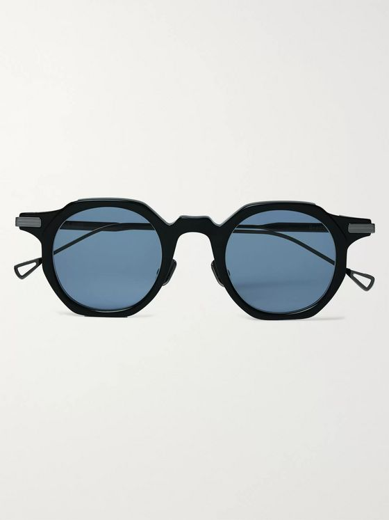 Native Sons Bradbury Round-Frame Acetate and Silver-Tone Sunglasses