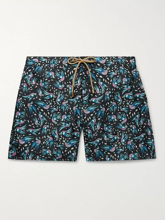 Thorsun Mid-Length Printed Swim Shorts
