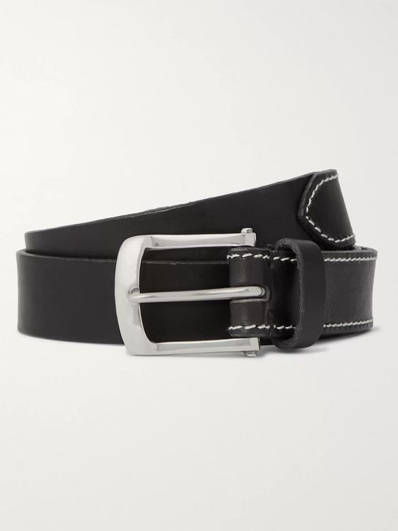 Oliver Spencer 3cm Black Leather Belt