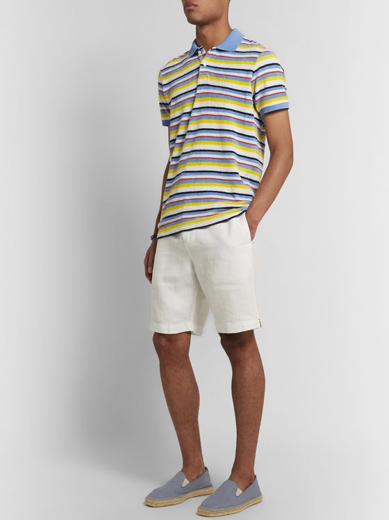 Orlebar Brown Jarrett Striped Cotton-Terry Polo Shirt