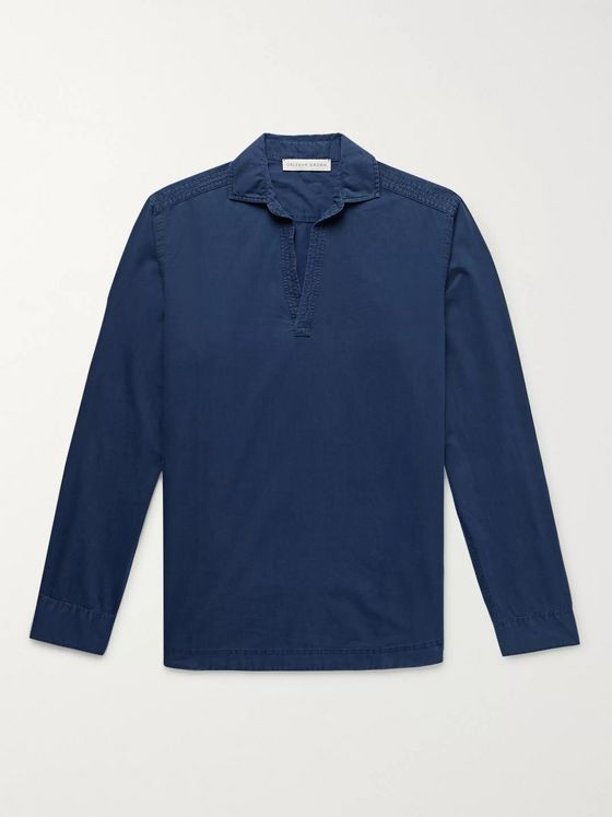 Orlebar Brown Ridley Indigo-Dyed Cotton Shirt