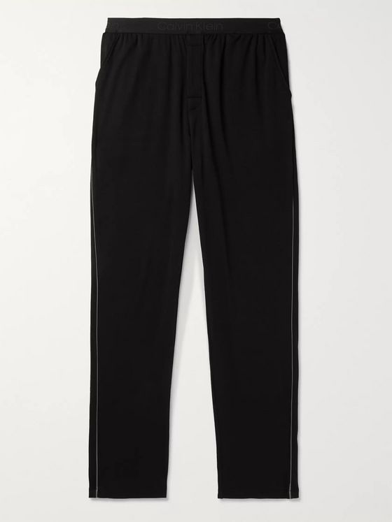 Calvin Klein Underwear Piped Cotton-Jersey Pyjama Trousers