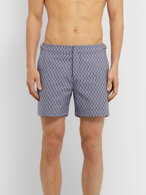 Orlebar Brown Bulldog X Mid-Length Jacquard Swim Shorts