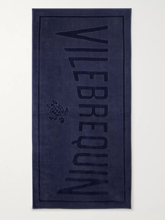 Vilebrequin Sand Logo-Jacquard Cotton-Terry Beach Towel