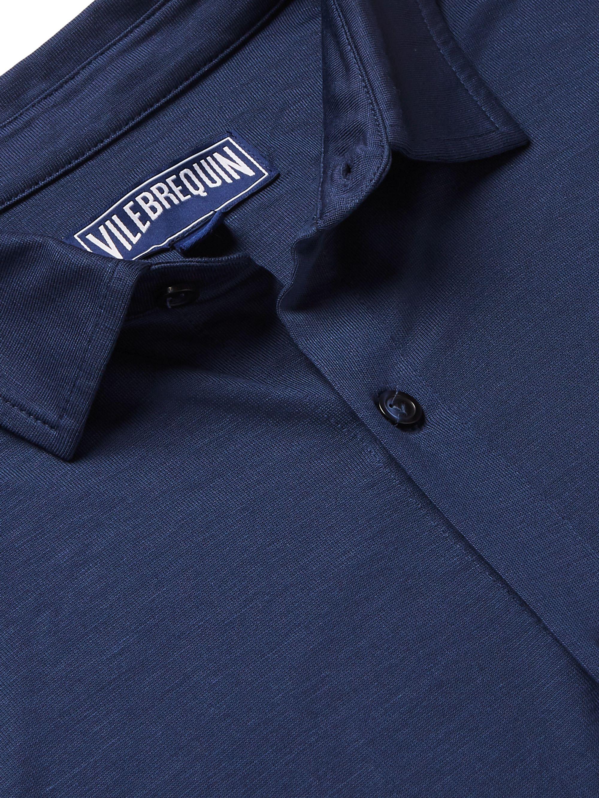 Navy Calandre Tencel Shirt | Vilebrequin