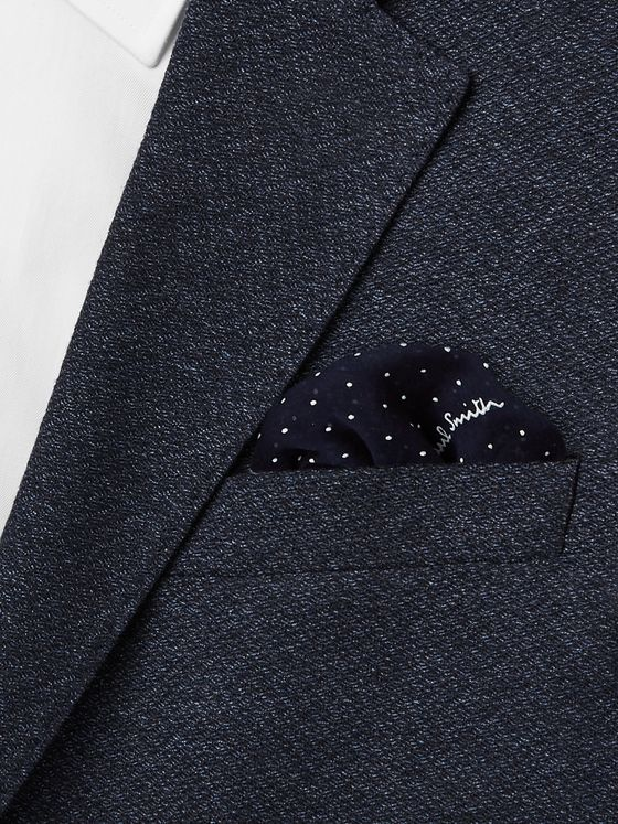 Paul Smith Pin-Dot Cotton and Silk-Blend Pocket Square