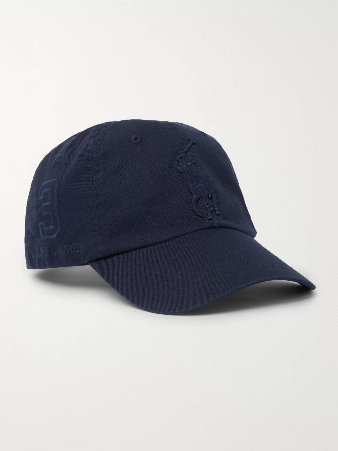 Polo Ralph Lauren Logo-embroidered Cotton-twill Baseball Cap In Blue