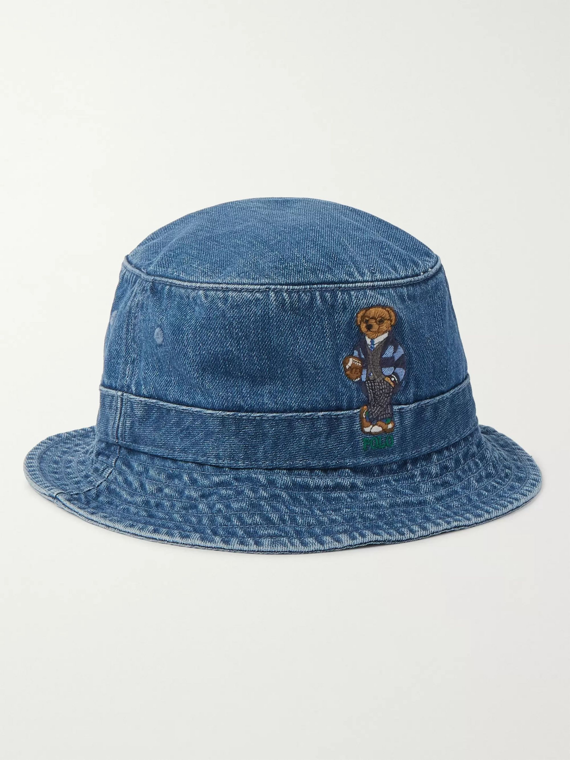 Polo Ralph Lauren Embroidered Denim Bucket Hat