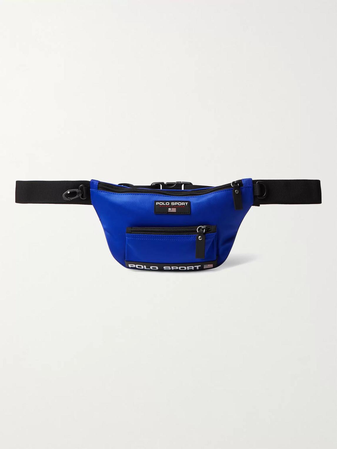 Polo Ralph Lauren Sport Logo-detailed Nylon Backpack In Royal