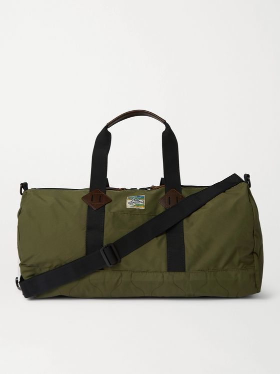 POLO RALPH LAUREN Leather-Trimmed Cotton and Nylon-Blend Duffle Bag