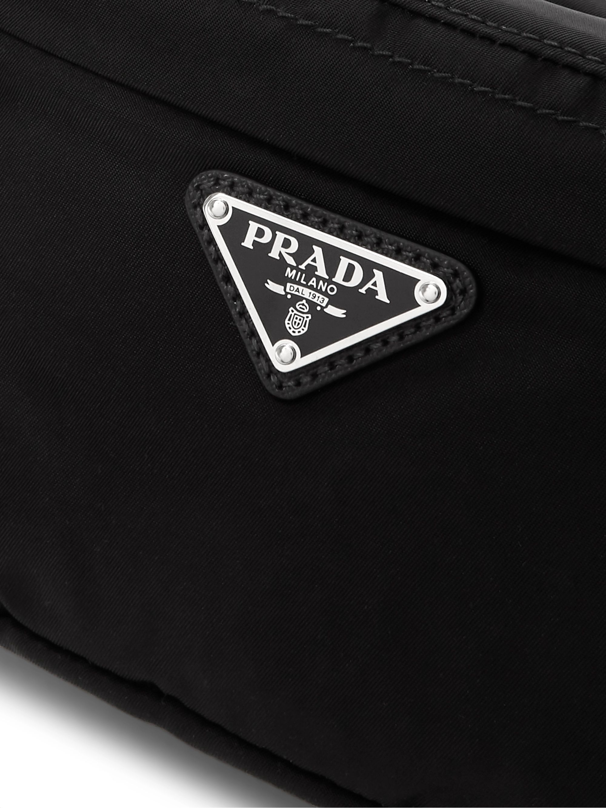 Prada Logo-Appliquéd Nylon Belt Bag