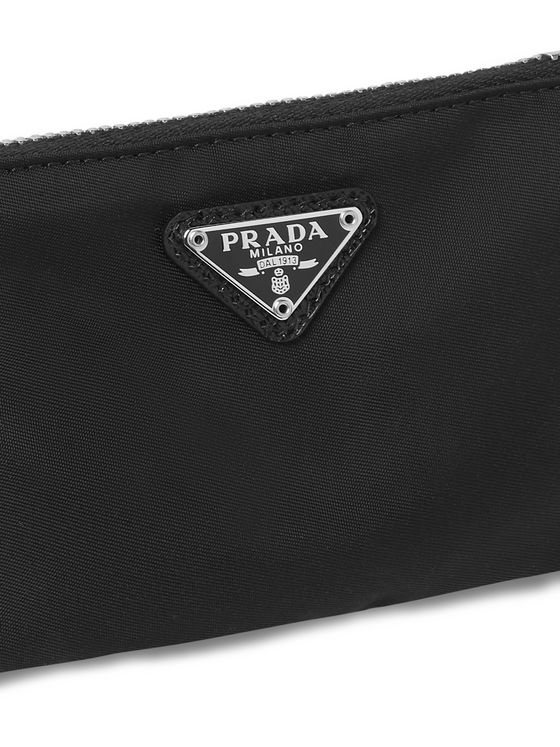 Prada Saffiano Leather-Trimmed Nylon Pouch