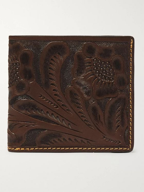 RRL Tooled Leather Billfold Wallet