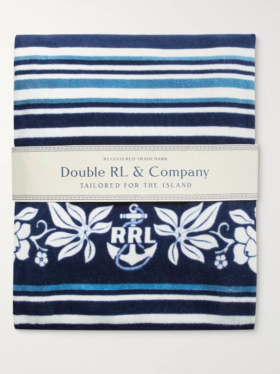 RRL Indigo-Dyed Cotton-Terry Beach Towel