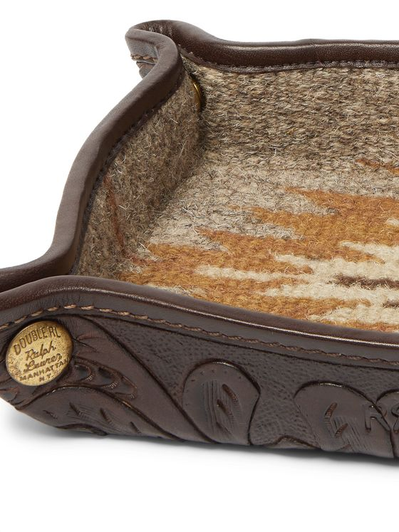 RRL Embossed Leather Tray